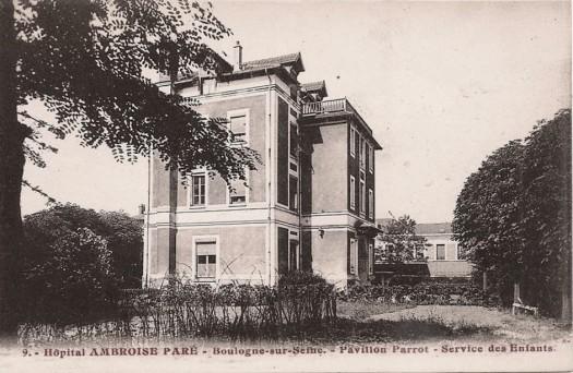 Hôpital Ambroise Paré. Service des enfants