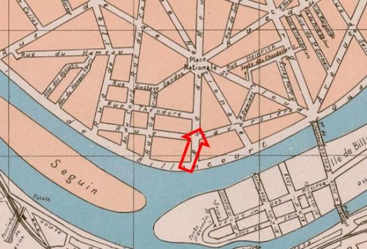 Localisation de la villa de la rue de Meudon