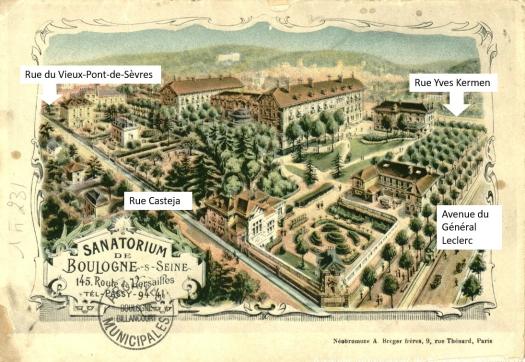 Plan du Sanatorium Sollier vers 1900