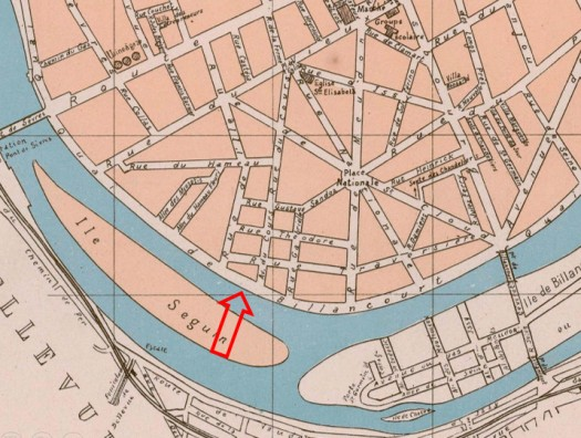 Localisation voiliers 1889