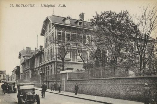 L'hôpital Ambroise Paré, côté rue de Saint-Cloud
