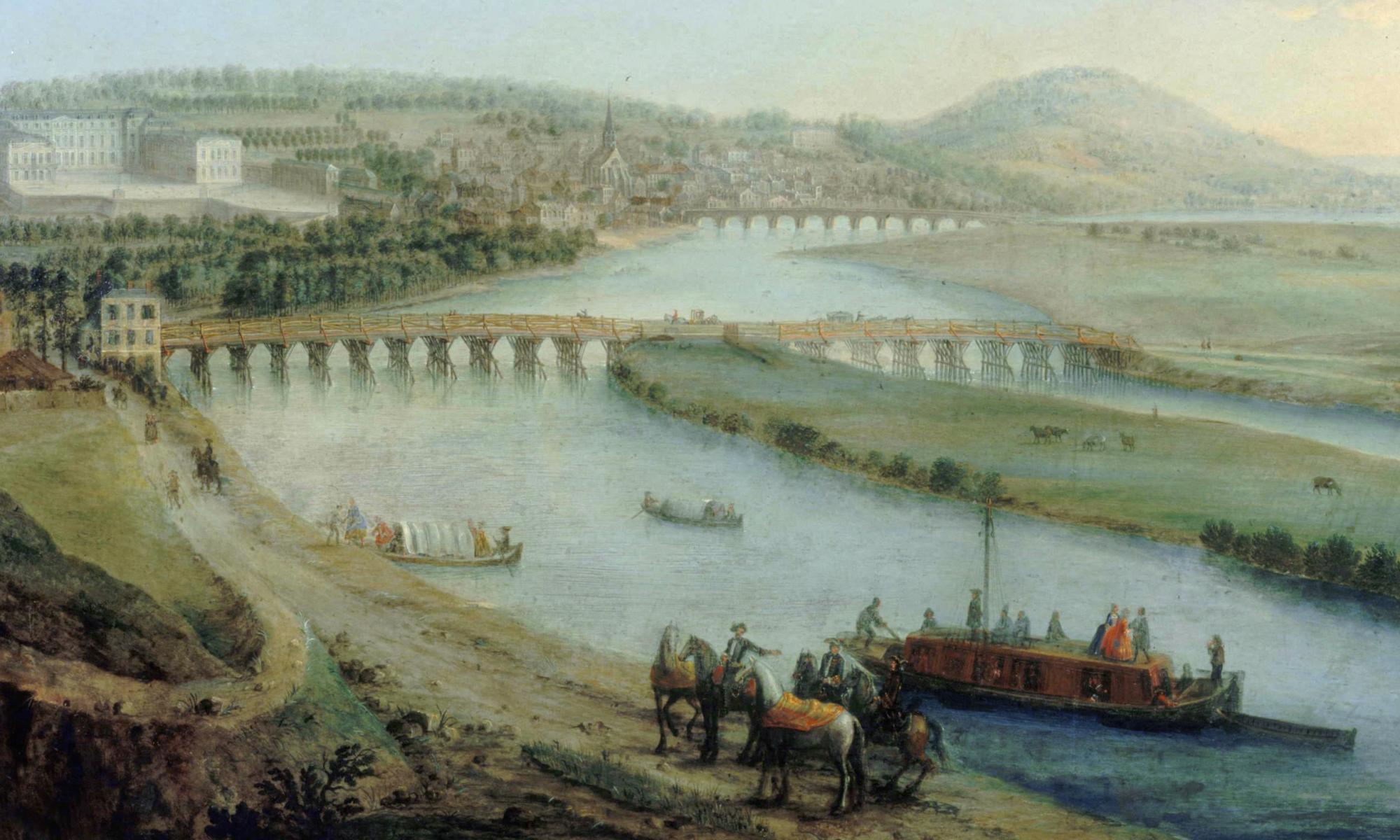 Charles Léopold Grevenbroeck - pont de Sèvres Vers 1740