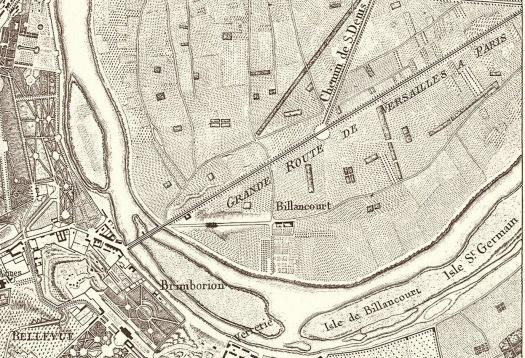 1807 Plan de Berthier (chasses du roi)