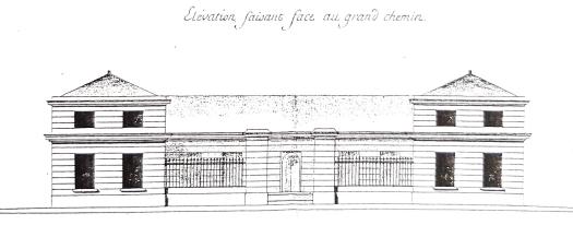 Ecuries du Comte d'Artois vues de la route de Versailles (élévation)