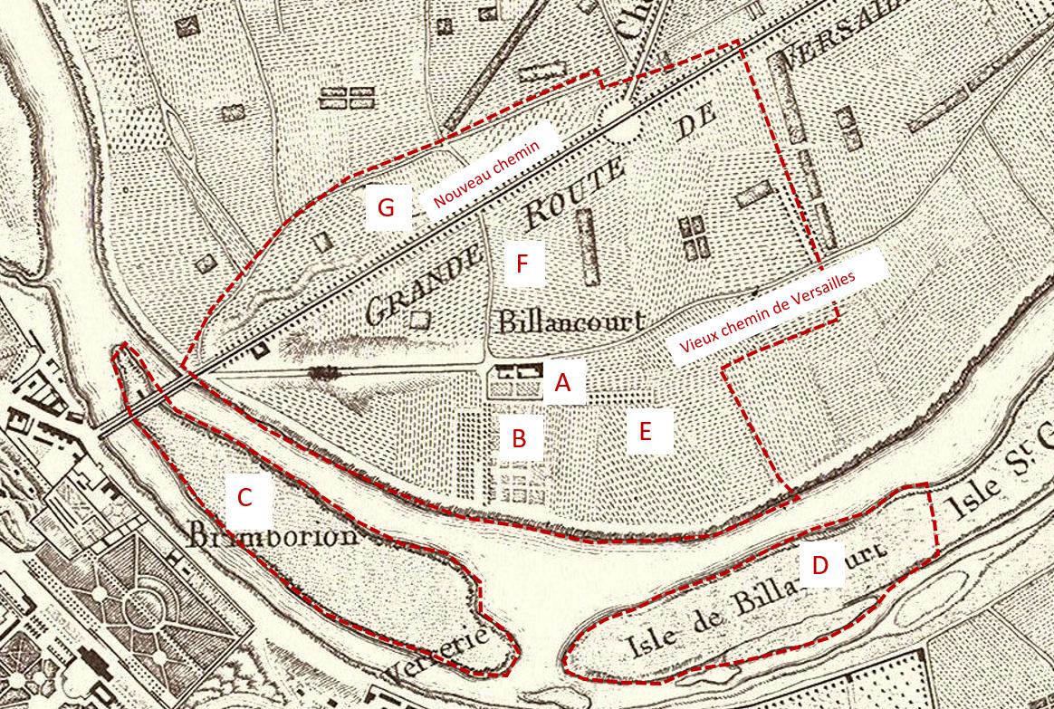 Le fief de la ferme de Billancourt 1770