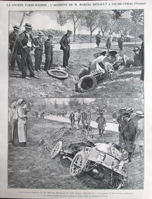 l'accident de Marcel Renault en 1903