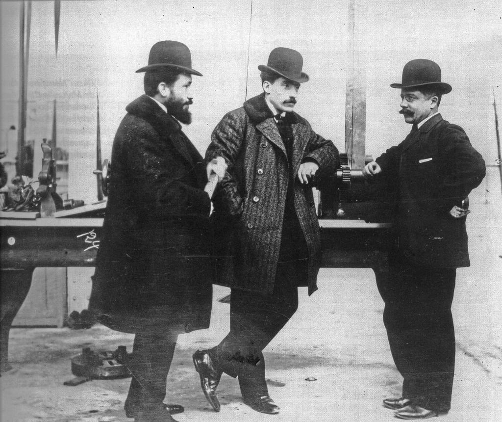 Marcel, Louis et Fernand Renault, de gauche à droite.