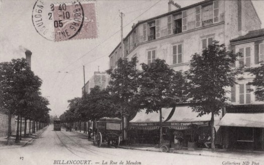 Rue de Meudon en 1905