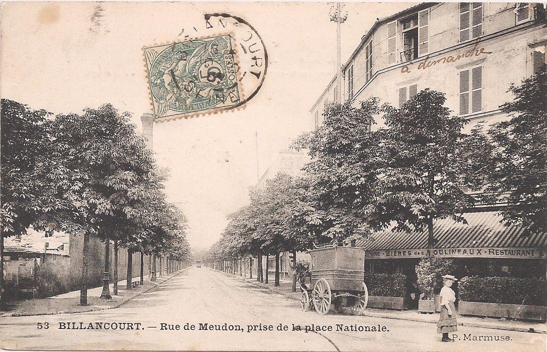 Rue de Meudon 1907 Place Nationale