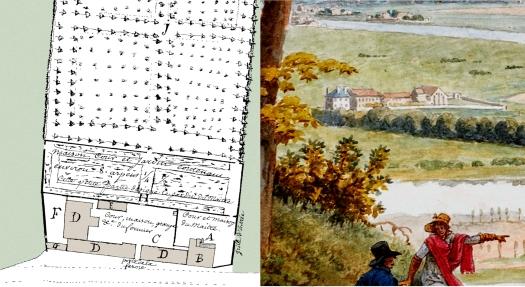1770 plan de masse & tableau de Vauzelle