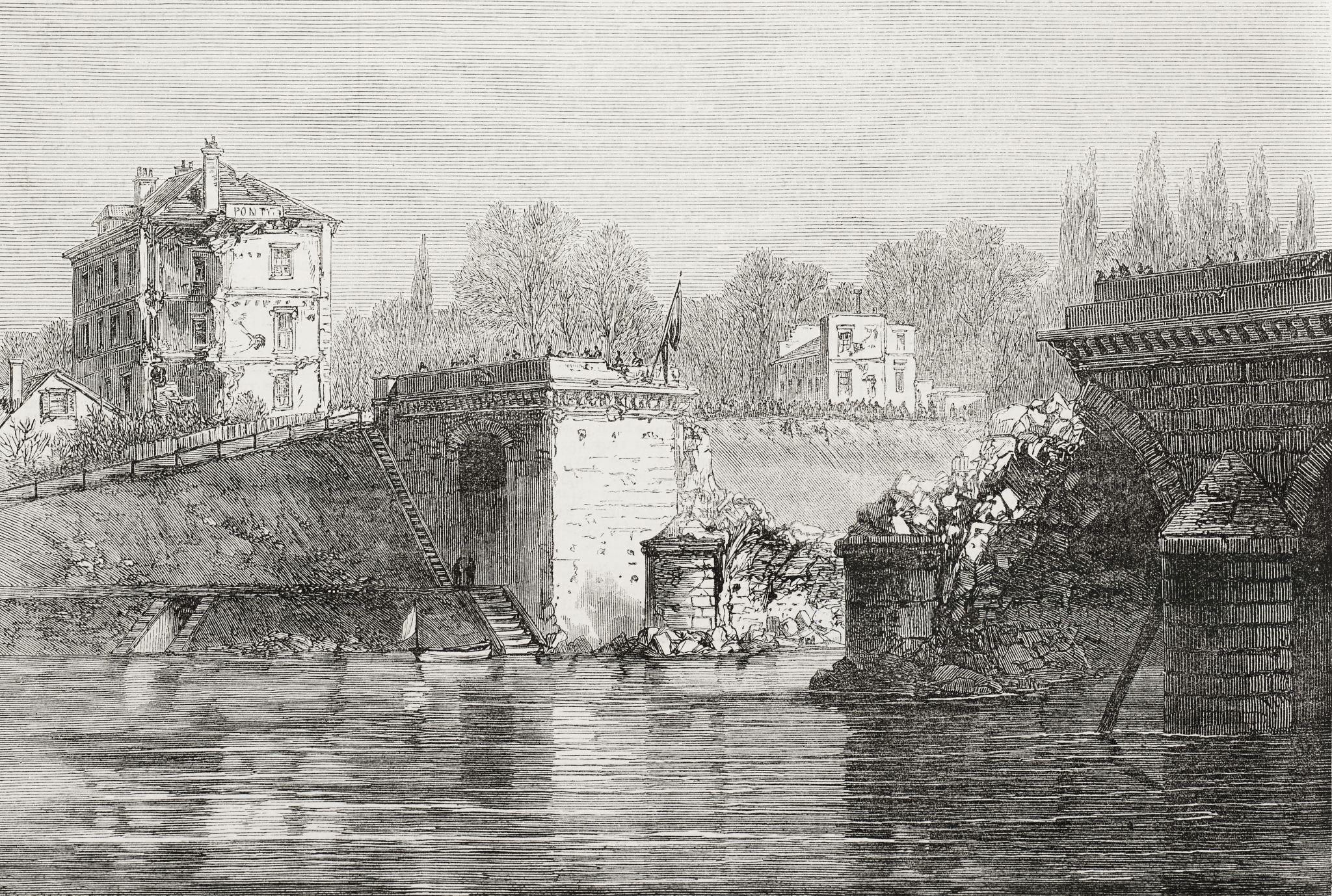 Guerre franco-prussienne-Au pont de Sèvres