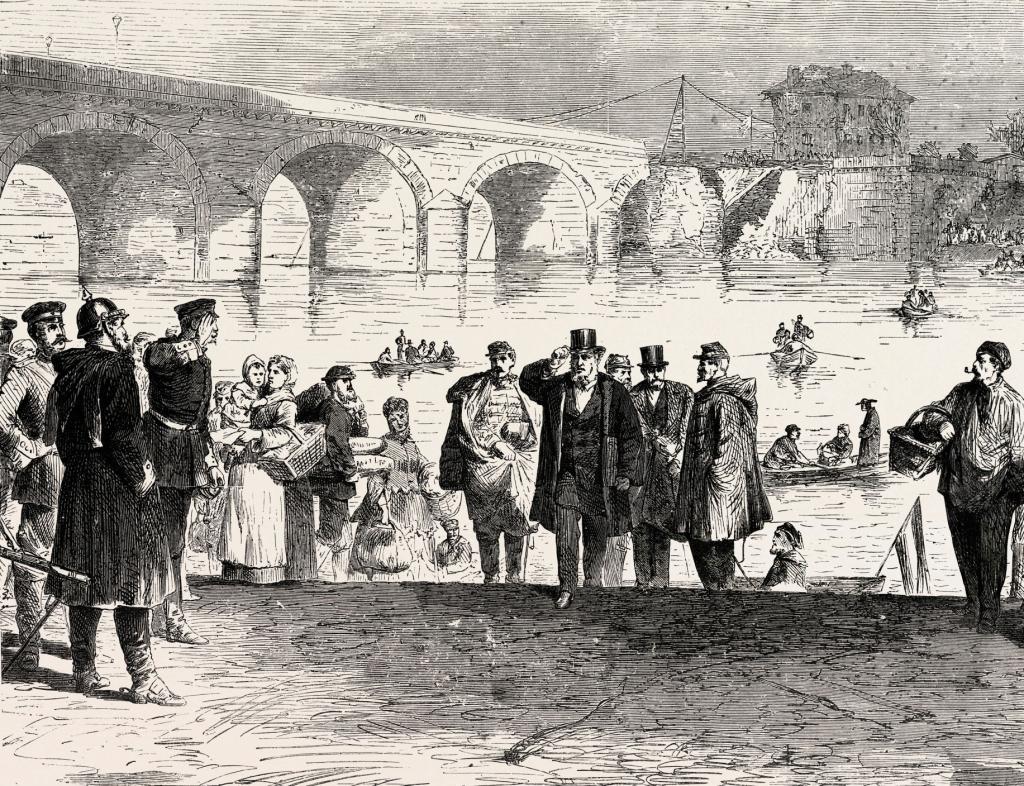 Guerre franco-prussienne-Jules Favre débarquant au pont de Sèvres durant la première semaine de l'armistice