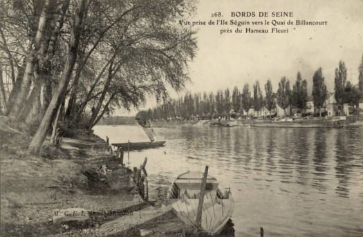 Vue de l'île Seguin vers la quai de Billancourt