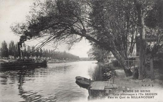 Ile Seguin côté quai de Billancourt