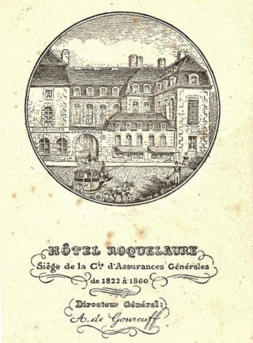 Hôtel Roquelaure siège de la Compagnie d'Assurances Générales