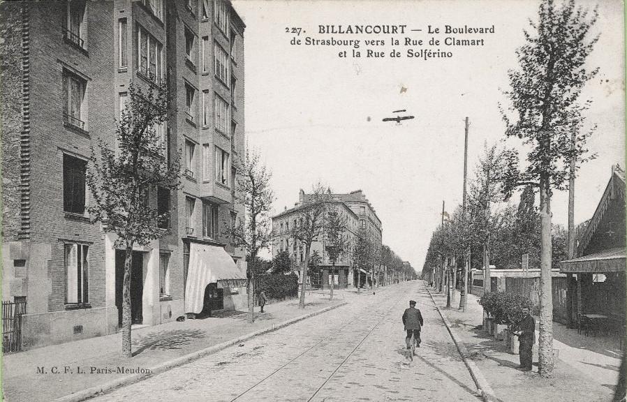 Boulevard Jean-Jaures et rue de Clamart 1914