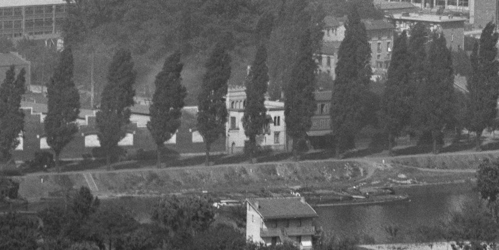 La villa mauresque en 1918, à côté d'ateliers Renault.