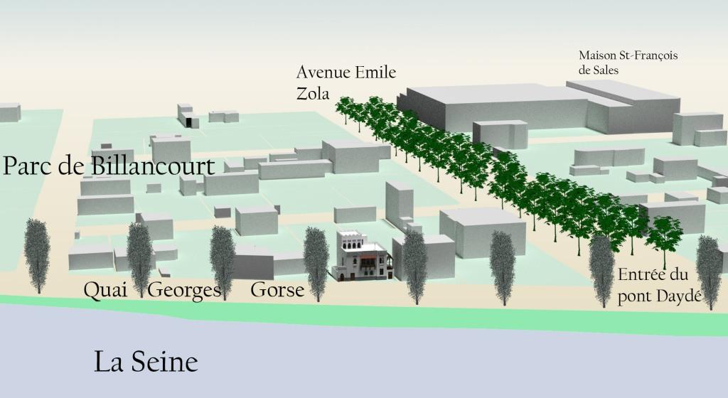 Localisation de la villa mauresque