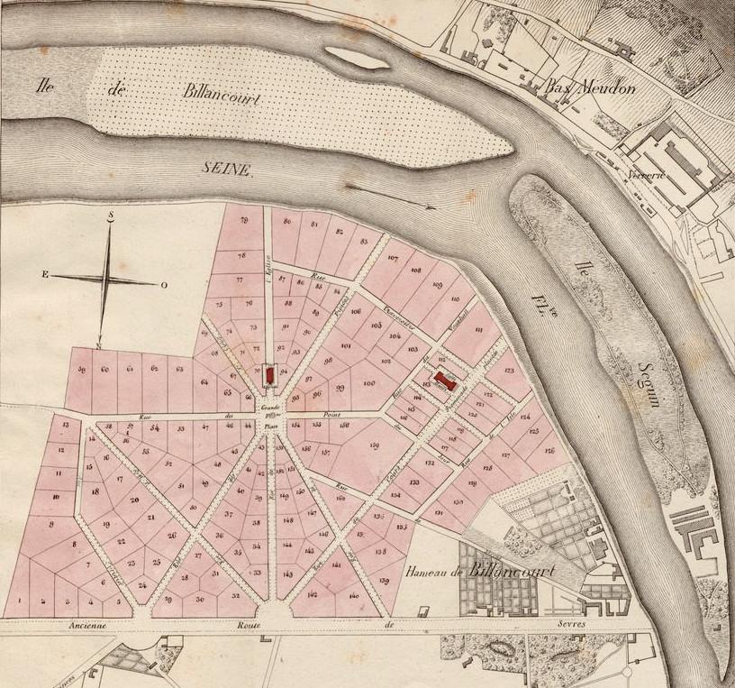 Plan parcellaire 1926 le Nouveau Village de Billancourt