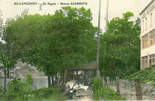 Ile Seguin, restaurant Sarreste côté Meudon