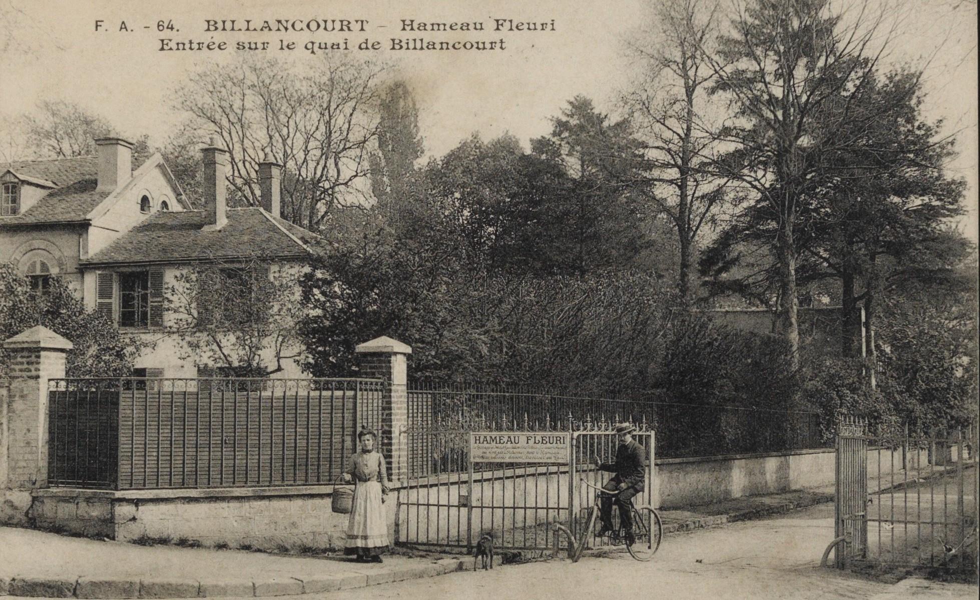Hameau fleuri entrée sur le Quai de Billancourt