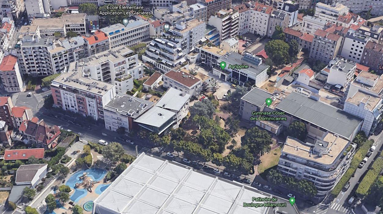 Le terrain du couvent des dominicaines en 2021