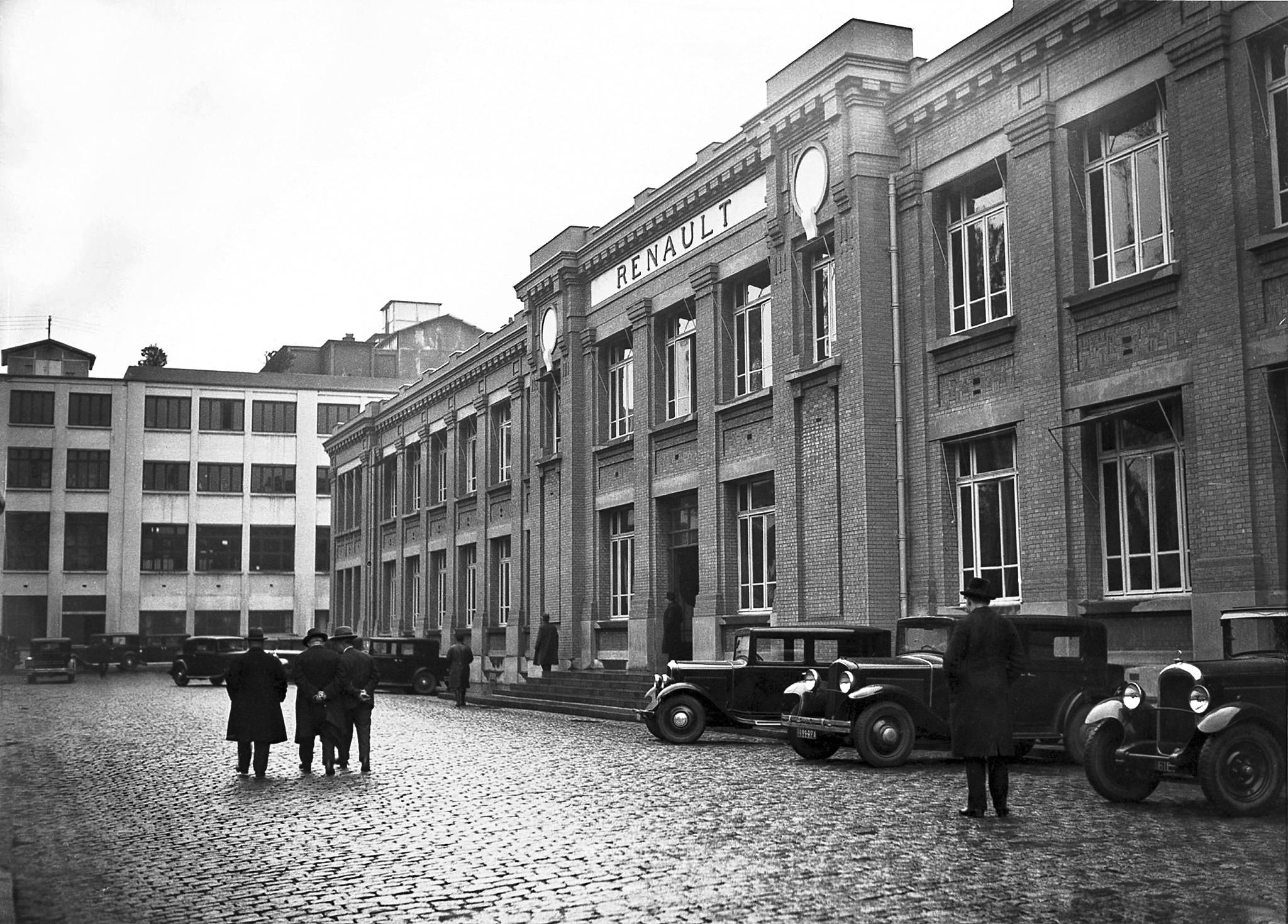 Le bâtiment X vers 1932.
