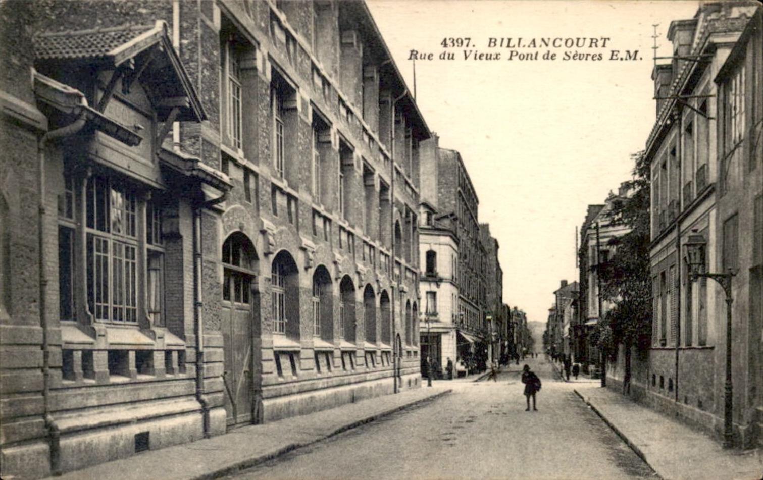 Ecole Thiers depuis la rue du vieux pont de Sèvres