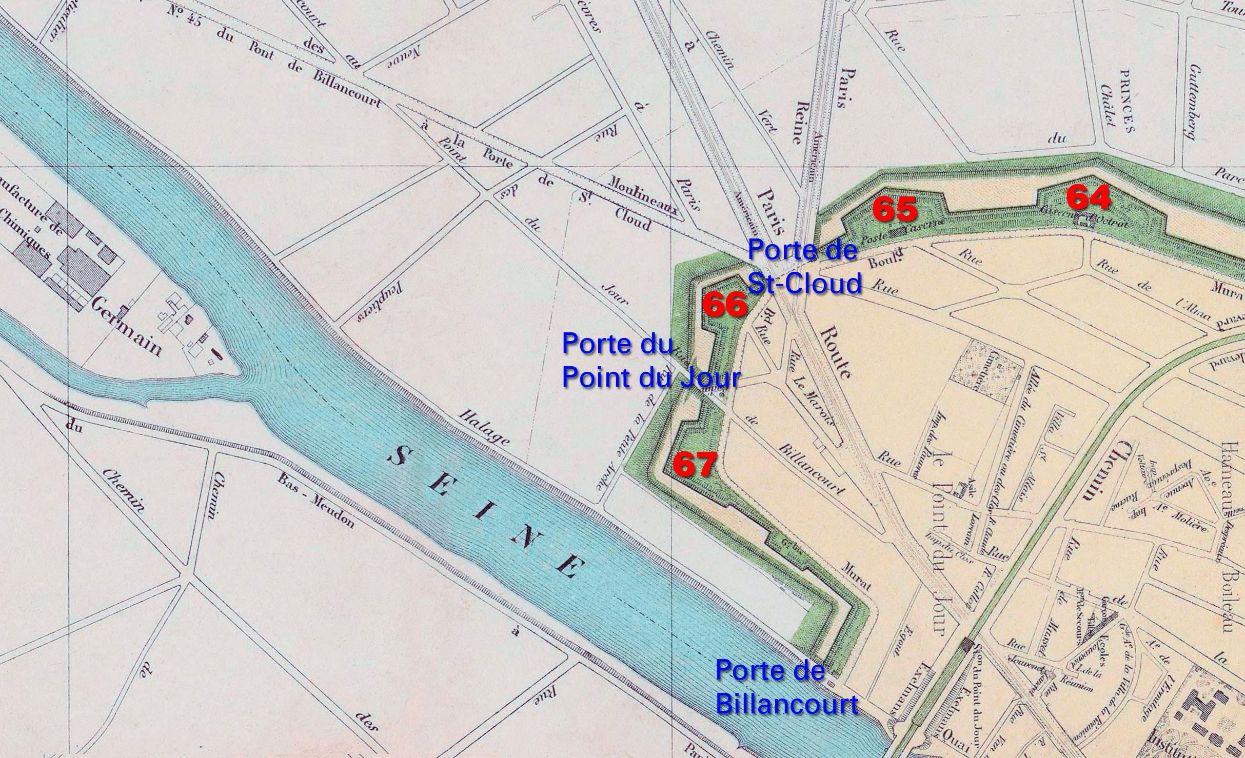 Plan des bastions et portes