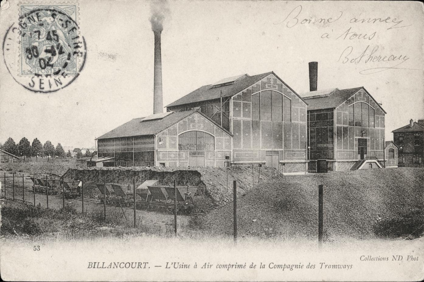 L'usine à air comprimé de la compagnie des tramways