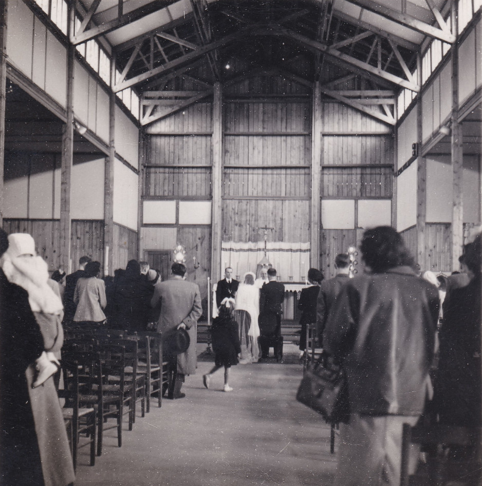 1948 29 avril Eglise Immaculée Conception mariage Emilia François 2 cropped