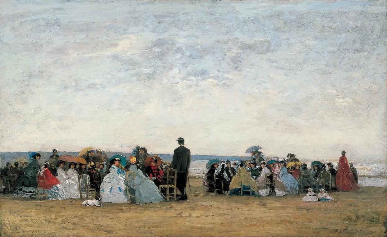 Eugène Boudin La plage près de Trouville vers 1865 Musée Bridgestone