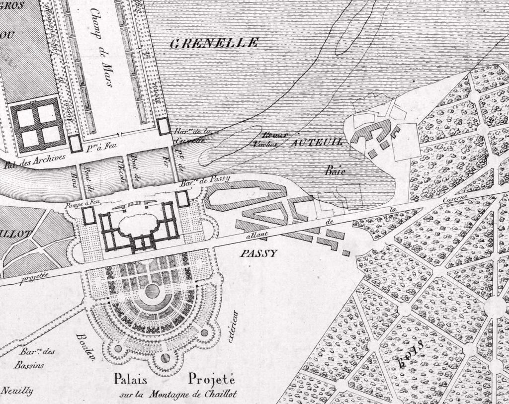 Palais du roi de Rome naumachie pour la plaine de Grenelle par Naudy Peyronnet-1825_BNF_BHVP