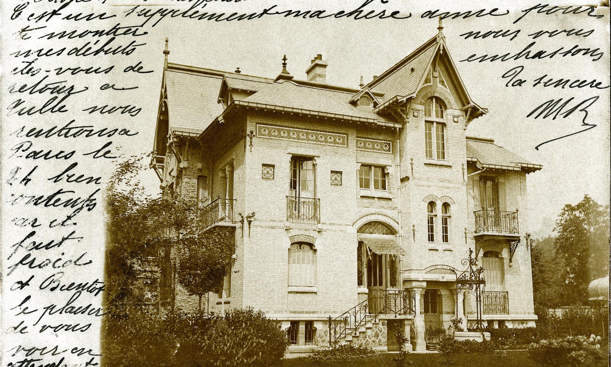 Rue de Meudon n°8 Villa Rozier en 1900